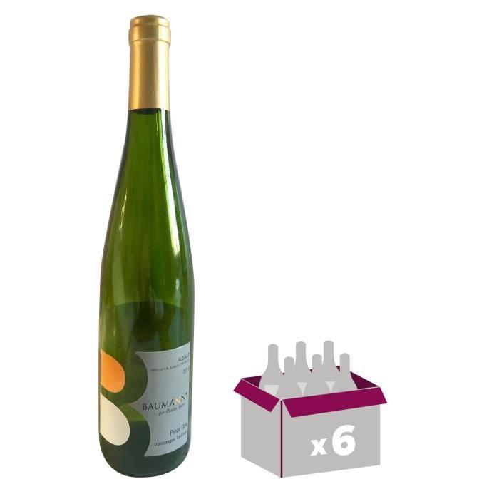 DOMAINE BAUMANN 2011 Pinot gris Vendange Tardives - Vin blanc d'Alsace x6