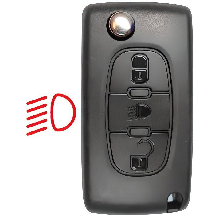 Coque de clé + lame compatible Peugeot-Citroën 3 boutons