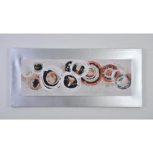 TABLEAU - TOILE CIRCLE2 Tableau déco toile peinte 40x90 cm rouge e