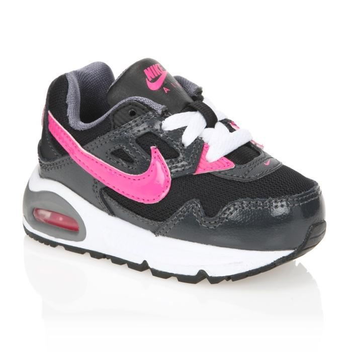 nike baskets air max skyline b b noir rose achat vente basket cdiscount. Black Bedroom Furniture Sets. Home Design Ideas