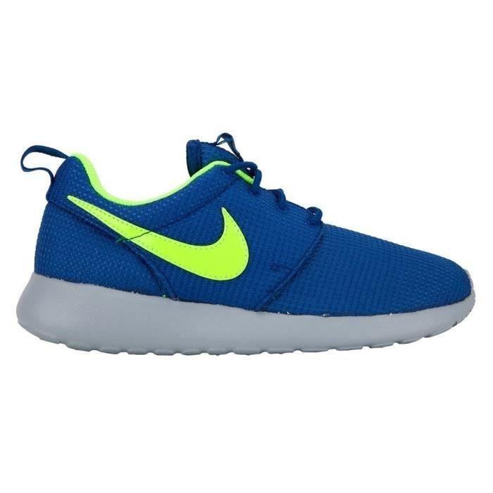 nike baskets rosherun gs enfant bleu et vert achat vente basket cdiscount. Black Bedroom Furniture Sets. Home Design Ideas