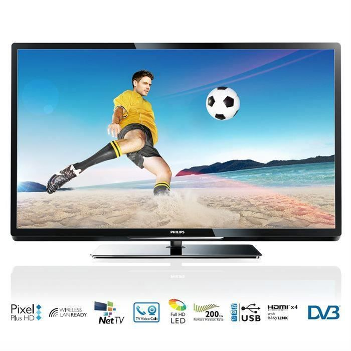 philips 42pfl4007h tv hd 107 cm t l viseur led prix pas. Black Bedroom Furniture Sets. Home Design Ideas