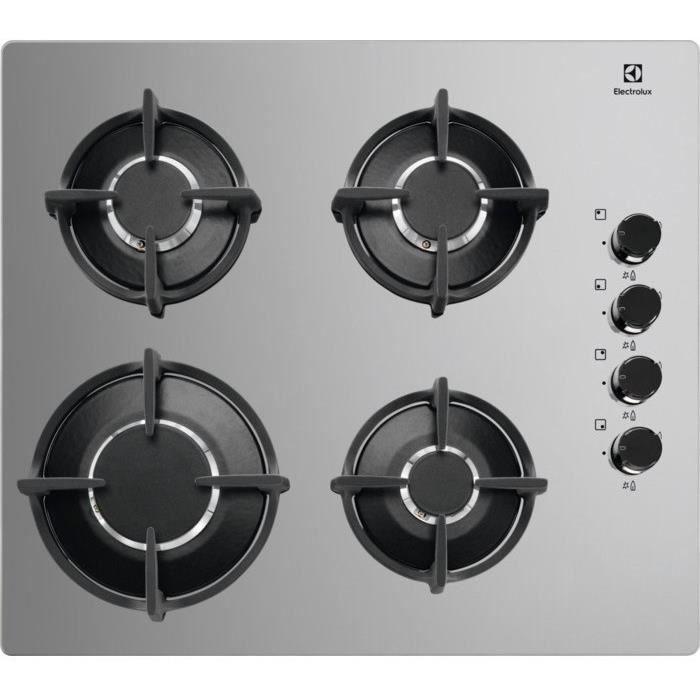 PLAQUE GAZ ELECTROLUX KGG6407M - Table de cuisson gaz - 4 foy