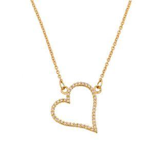 PENDENTIF VENDU SEUL Pendentif diamant 14 carats Or parsemée 585/1000