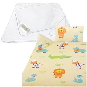 HOUSSE DE COUETTE ET TAIES Set de linge de lit pour enfants: Oreiller 40x60 c