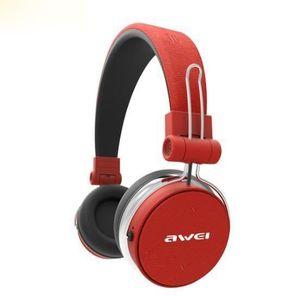 CASQUE - ÉCOUTEURS AWEI A700BL rouge Bluetooth Casque Avec Microphone