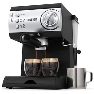 MACHINE À CAFÉ Cafetière Expresso, Homever Professionnelle Machin