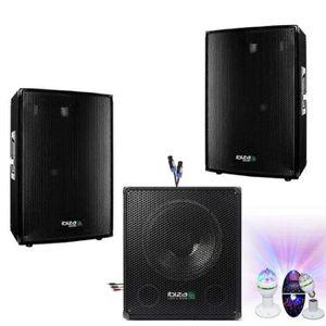 PACK SONO PACK SONO DJ 2000W CUBE 1512 avec CAISSON + ENCENT