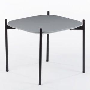 TABLE À MANGER SEULE Table Andy (50x50 cm) Gris