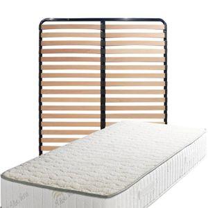 MATELAS Matelas 140x190 + Sommier Démonté + pieds Offerts
