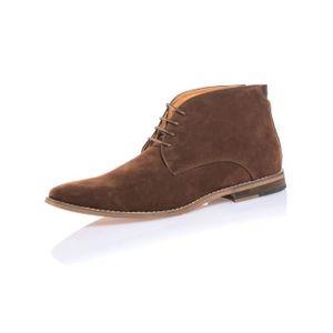 Chaussure chic homme montante en effet daim marron Marron