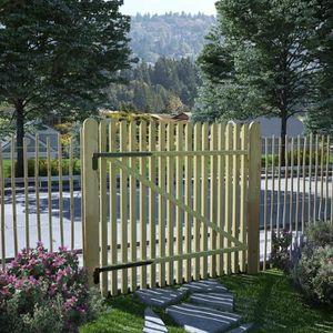 PORTAIL - PORTILLON Portail de jardin en piquets Bois de pin imprégné