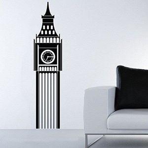 STICKERS Sticker   London Big Ben - 160 X 35 cm, Bordeaux