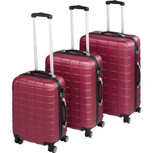 SET DE VALISES TECTAKE Set de 3 valises Mixte Trolley 402670 - Ri