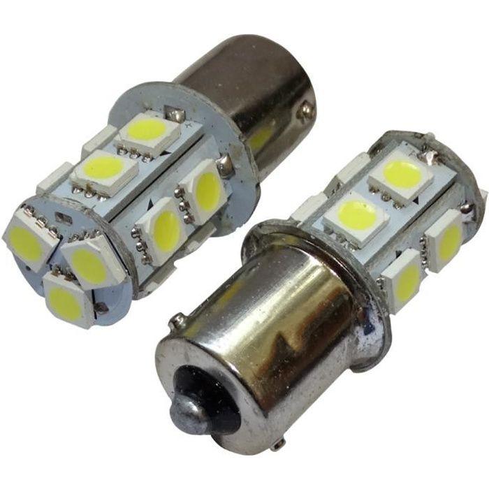 Aerzetix: 2x ampoule 24V P21W R10W R5W 13LED SMD blanc pour camion semi-remorque porte de garage portail C11789