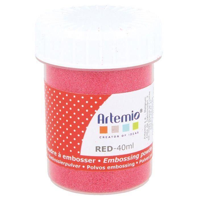 Poudre à embosser 40 ml - Rouge
