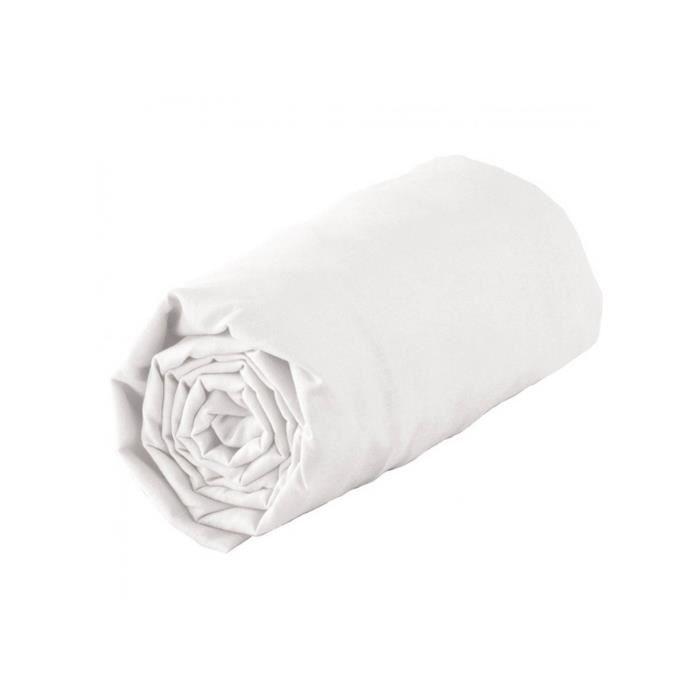 Drap housse 2P 180X200 Blanc