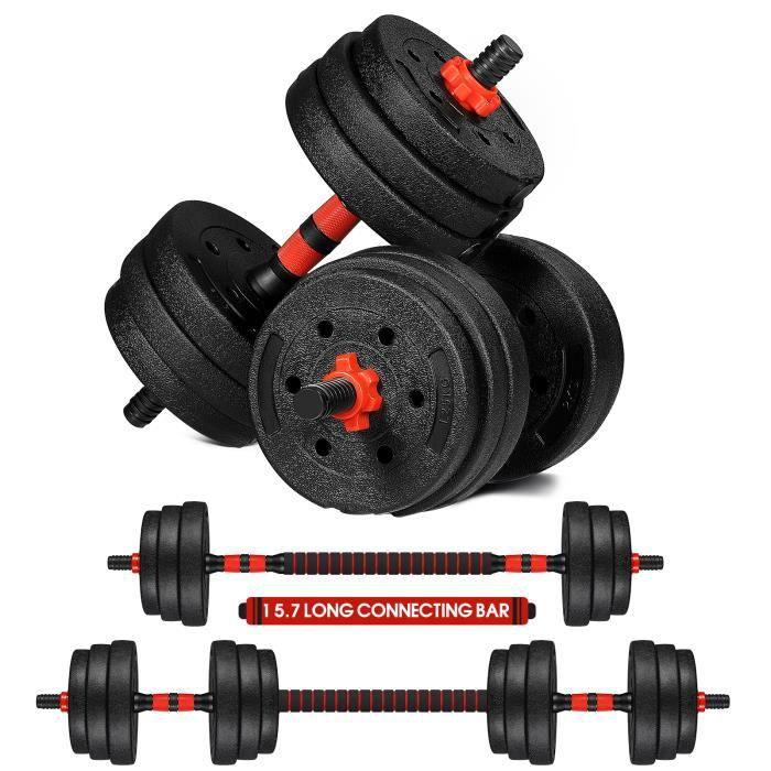BESPORTBLE Haltère réglable 20KG Une paire - Aide à tonifier et à modeler vos bras, vos épaules et votre dos