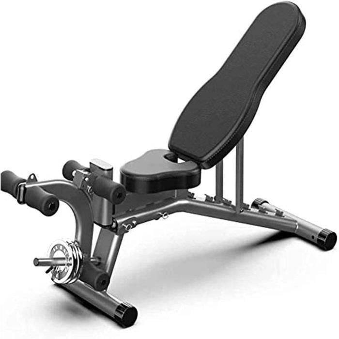 QBAMTX Banc De Musculation Ajustable Banc De Musculation Pliable Banc Polyvalent Plat-Incliné-Décliné pour La Gym À Domicile, L'entr