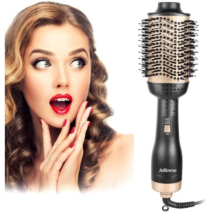 Brosse Soufflante,Hair Dryer Brush, Brosse Coiffante,Brosse Lissante Chauffant, Salon Sèche Cheveux Volumisant, Electrique Multifo
