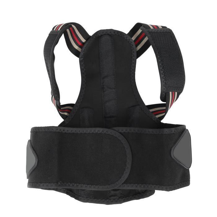 ceinture de soutien du dos Correcteur de posture Attelle de clavicule supérieure du dos réglable Ceinture de soutien du bois