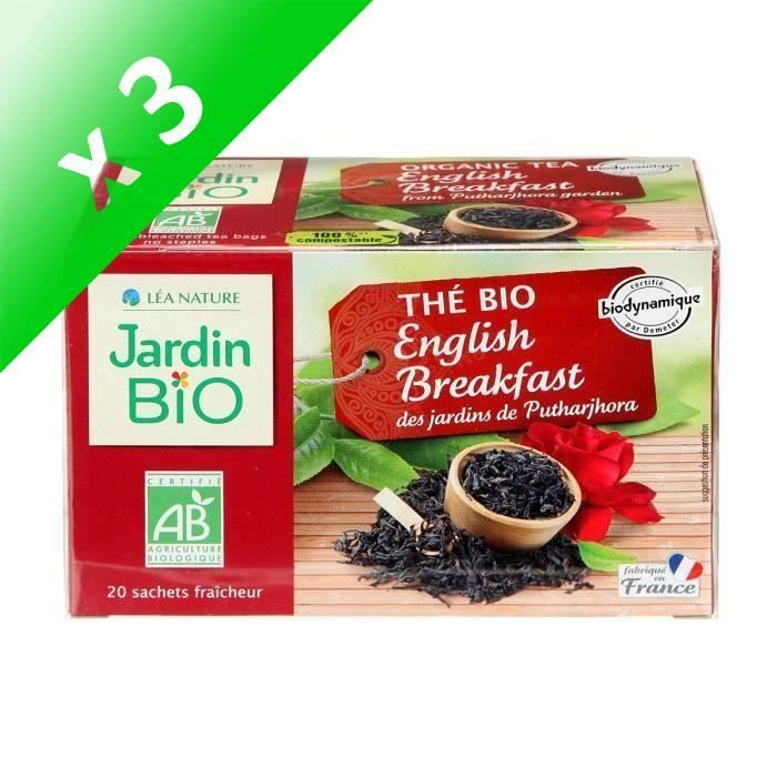 [LOT DE 3] JARDIN BIO Thé noir english breakfast bio - 32 g