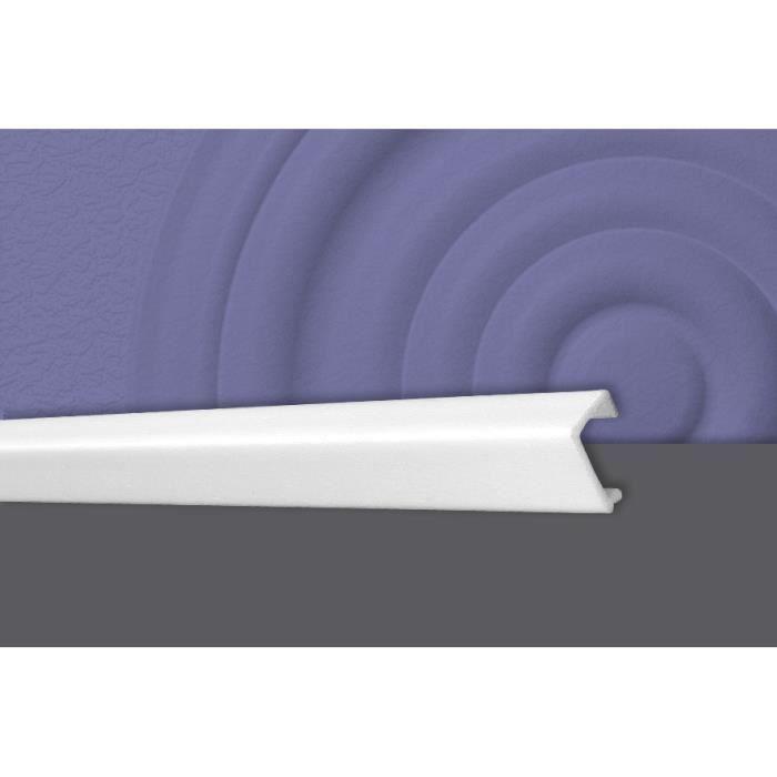 Decosa Moulure d'angle KP25 (pour cacher les câbles), 20 x 25 mm, polystyrène dur, longueur 2 m - LOT de 10 pièces