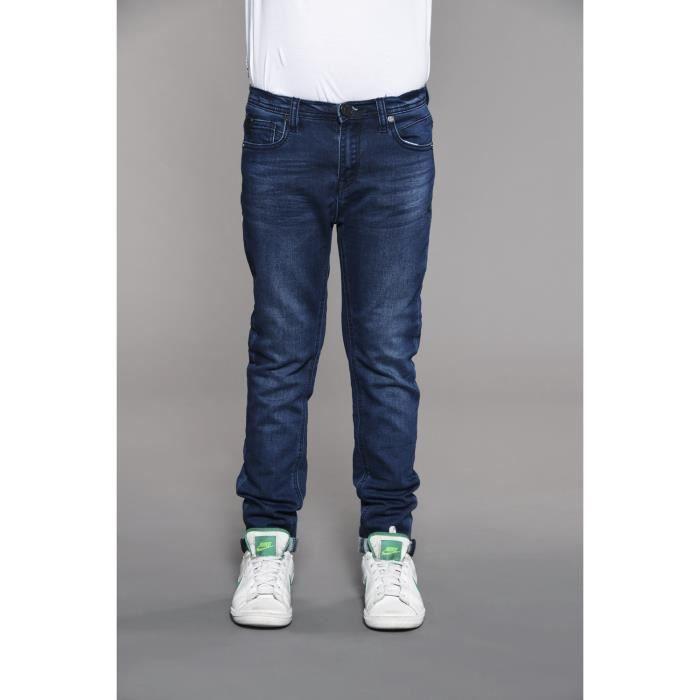 Jogg jeans slim avec délavage used