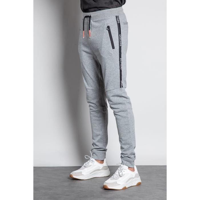 DEELUXE Jogging avec bande JUDO Medium Grey Mel