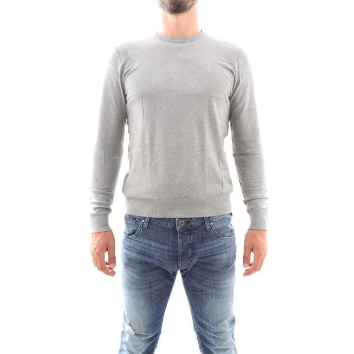 Armani Jeans 6Y6MF5 6M0IZ tricots Col ras du cou Homme Gris