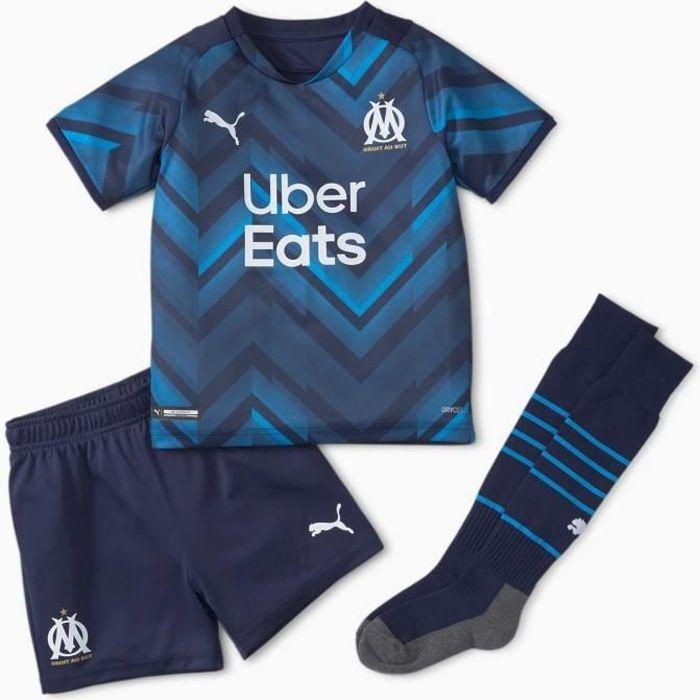 Mini kit Extérieur Olympique de Marseille 2021/22 - bleu/bleu rayé - 104