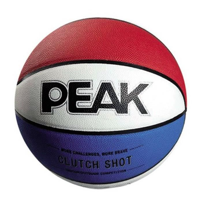PEAK Ballon de Basket - Tricolore