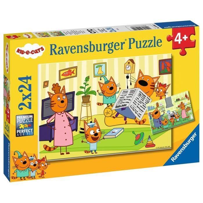 Puzzles 2x24 p - A la maison avec les Kid-E-Cats