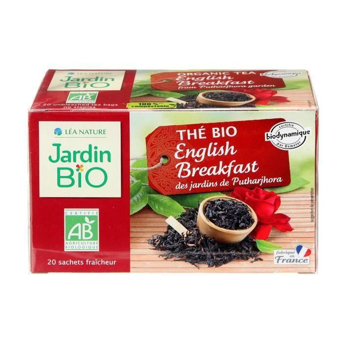 JARDIN BIO Thé noir english breakfast bio - 32 g