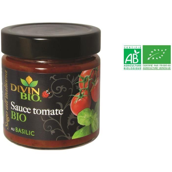 Sauce au basilic bio 190 g