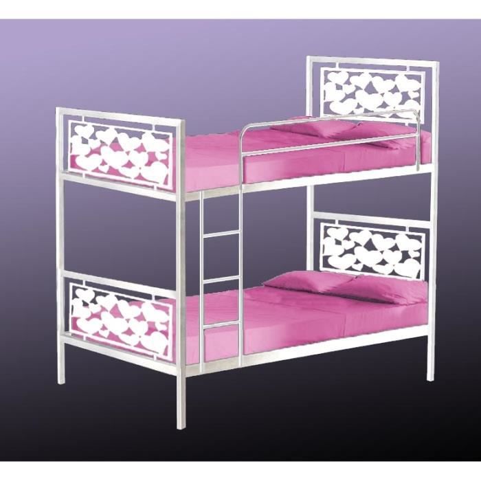 lit superpos en fer forg mod le coeur achat vente. Black Bedroom Furniture Sets. Home Design Ideas