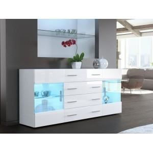 bahut blanc laqu 166 cm diff rents coloris di achat vente buffet bahut bahut blanc laqu. Black Bedroom Furniture Sets. Home Design Ideas