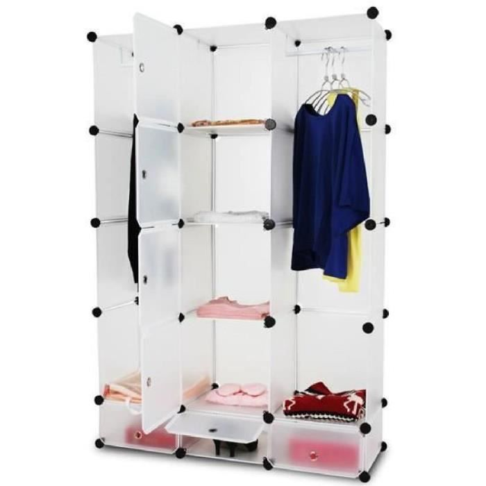 meuble armoire penderie en plastique achat vente. Black Bedroom Furniture Sets. Home Design Ideas