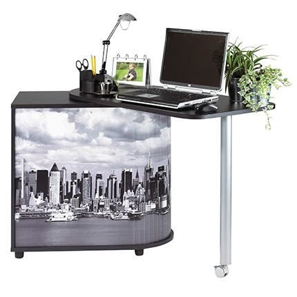 bureau informatique pivotant 105 cm noir manhattan achat vente bureau bureau. Black Bedroom Furniture Sets. Home Design Ideas
