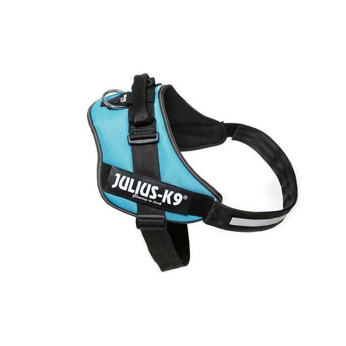 Julius-K9 IDC-Power Harnais pour Chien Bleu Aquamarine Taille 3