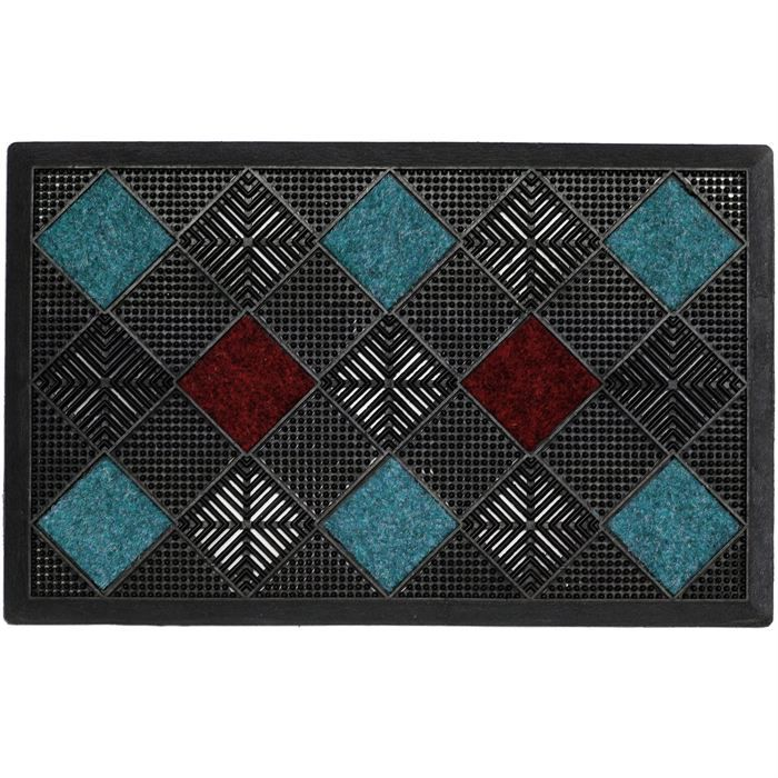 tapis d 39 entr e paillasson bleu b dg 47x75cm achat vente paillasson cdiscount. Black Bedroom Furniture Sets. Home Design Ideas
