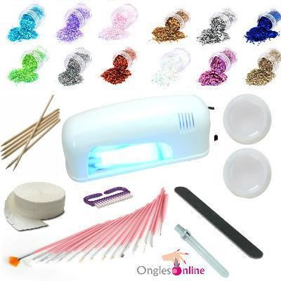 kit manucure nail 9w le uv gel faux ongles achat vente faux ongles kit manucure nail