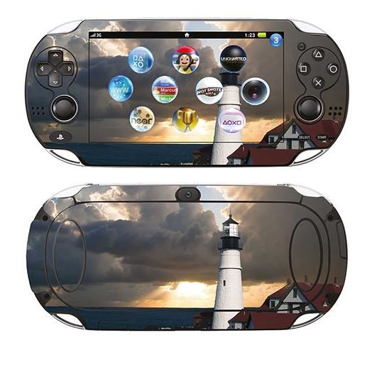 skin stickers pour sony ps vita sticker lighthouse achat vente sticker skin console. Black Bedroom Furniture Sets. Home Design Ideas
