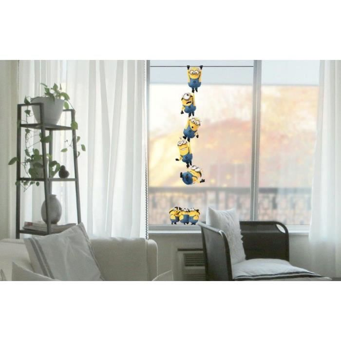 minions sticker pour fenetre chains 12x60x0 3cm achat vente stickers cdiscount. Black Bedroom Furniture Sets. Home Design Ideas