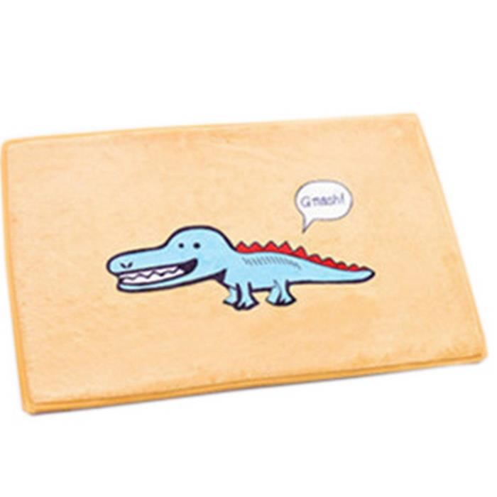 Tapis D Entr E Animation Mousse Carpette Pais Anti D Rapant Salon Cuisine Crocodile Achat