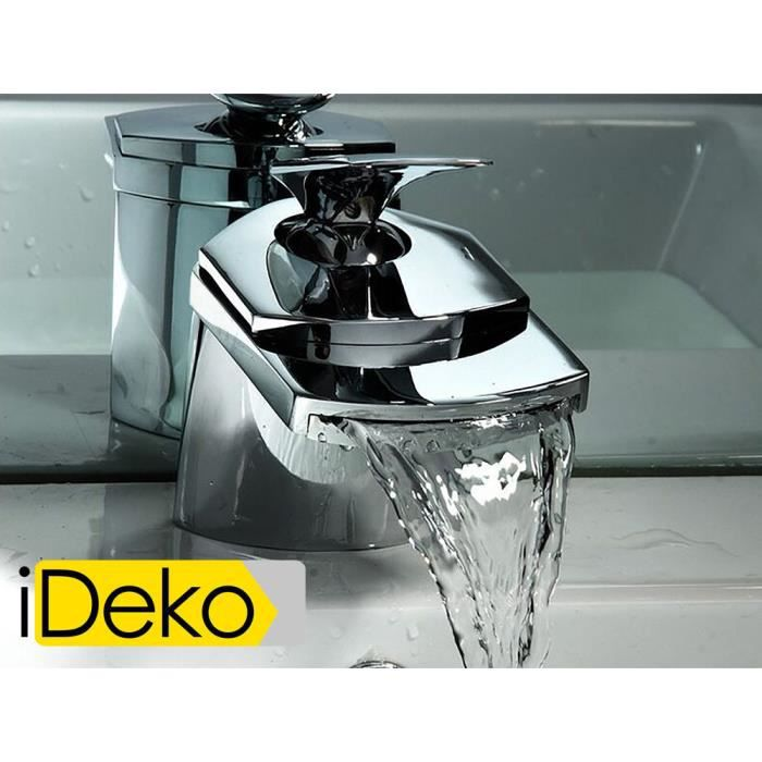 ideko robinet mitigeur lavabo cascade niagara en achat vente robinetterie sdb ideko. Black Bedroom Furniture Sets. Home Design Ideas
