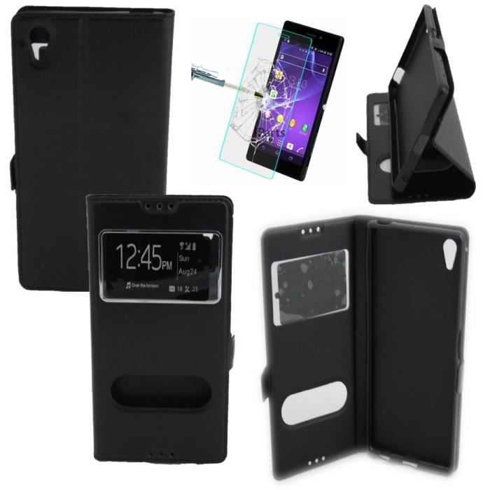 Etui housse coque design qualit 2 fen tres sony xperia z5 for Film protecteur fenetre