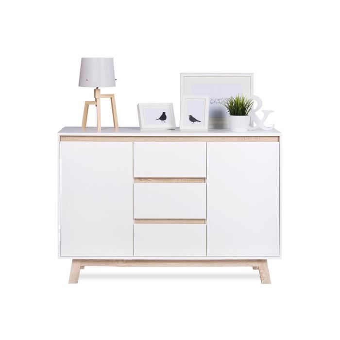 apart buffet scandinave blanc l 120 cm achat vente. Black Bedroom Furniture Sets. Home Design Ideas