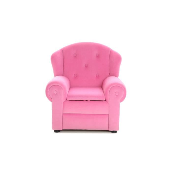 miliboo fauteuil design enfant rose aurore achat. Black Bedroom Furniture Sets. Home Design Ideas