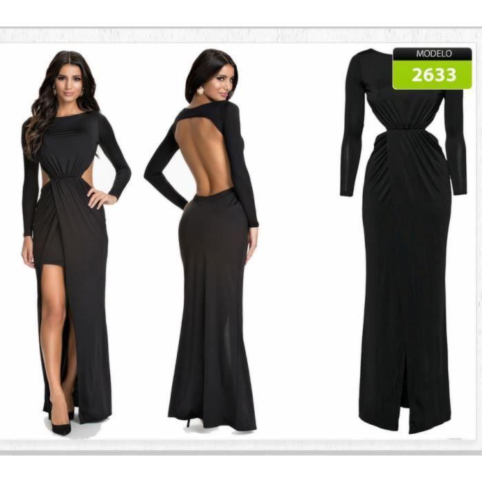 Plus Belle Robe Noire Robe Femme Robes De Soiree Robes Habillees Robe Longue Noire Achat Vente Robe De Ceremonie Cdiscount
